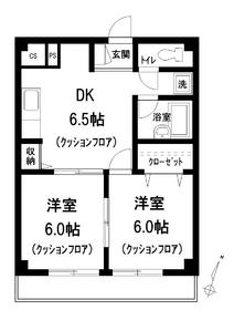 クレドール千川4階Fの間取り画像