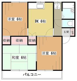ベルメゾンサーバA2階Fの間取り画像