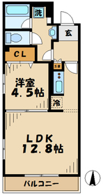 パレス東京1階Fの間取り画像