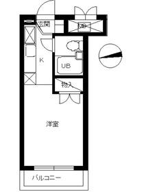 スカイコート綱島33階Fの間取り画像