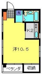 パークサイドベル1階Fの間取り画像