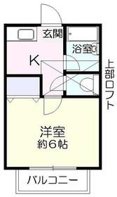 ルパール生田2階Fの間取り画像