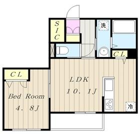 シトラスコート3階Fの間取り画像
