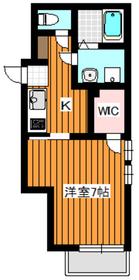 ヴィラアルテCHIHAYA3階Fの間取り画像
