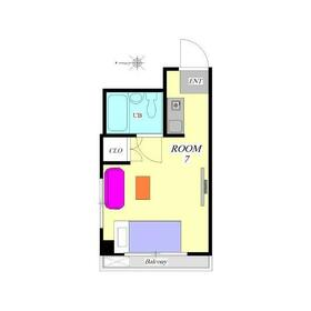 ブックスマンション2階Fの間取り画像