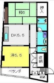 メゾンウィスタリアⅡ4階Fの間取り画像