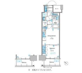 パークアクシス豊洲キャナル7階Fの間取り画像