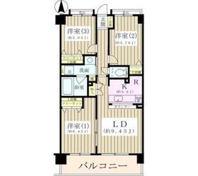 ジーオー桜庵5階Fの間取り画像