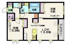 (仮称)天王台3丁目メゾン2階Fの間取り画像