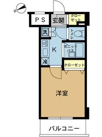 スカイコートヴィーダ五反田WEST10階Fの間取り画像