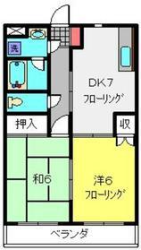 ビューハイツカネコ1階Fの間取り画像