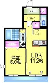 リベラル コート 2号館 ペット共生3階Fの間取り画像