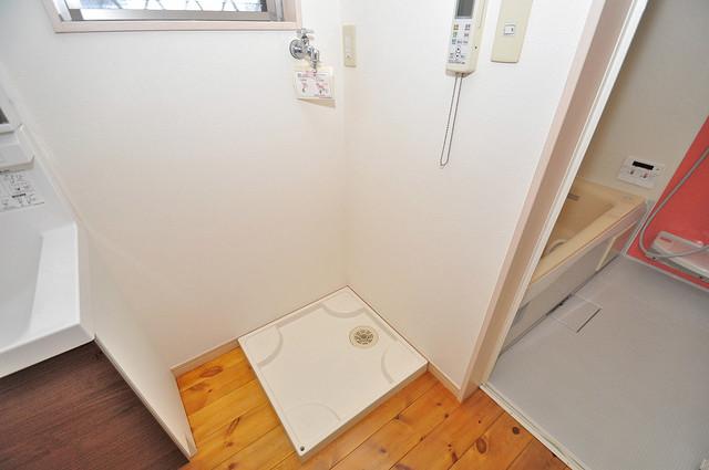 大蓮東1-22-30 貸家 嬉しい室内洗濯機置場。これで洗濯機も長持ちしますね。