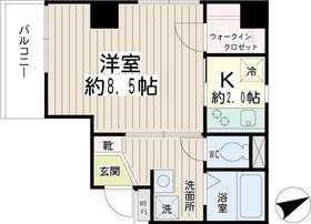 ルトゥール5階Fの間取り画像