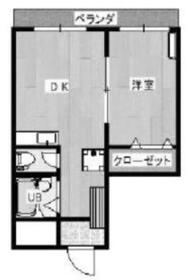 コートコア百合丘4階Fの間取り画像