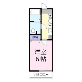 BestStage上福岡3階Fの間取り画像