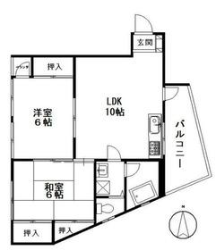本田ビル3階Fの間取り画像
