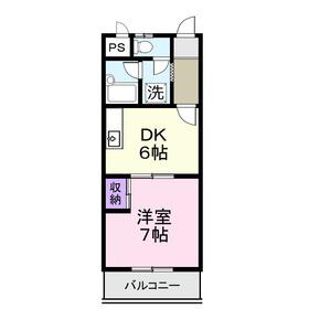 コーポシマ3階Fの間取り画像