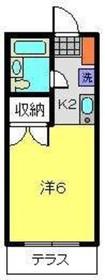 和田町駅 徒歩17分1階Fの間取り画像