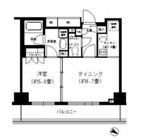 PORTO PARTIRE YOKOHAMA8階Fの間取り画像