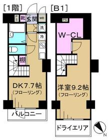 VIDA文京関口1階Fの間取り画像