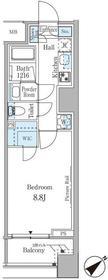 ルビア赤坂3階Fの間取り画像