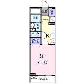 サンフラワー2階Fの間取り画像