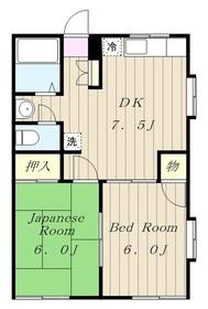 ヨッシー九沢1階Fの間取り画像