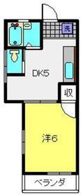 コーポ大倉山1階Fの間取り画像