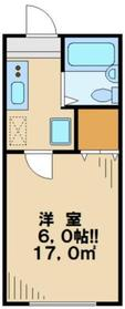 メゾンコリーナ(Maison・Colina)1階Fの間取り画像