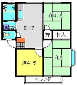 コズミックシティ南台第二B2階Fの間取り画像