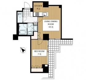 六本木ファーストプラザ6階Fの間取り画像