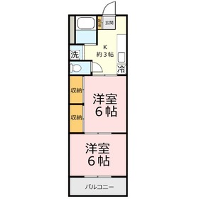 大原ビル2階Fの間取り画像