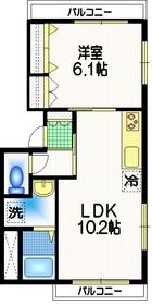 Mハウス2階Fの間取り画像