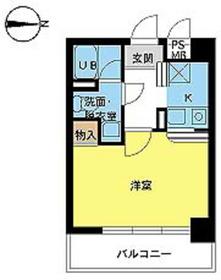 スカイコート新高円寺7階Fの間取り画像