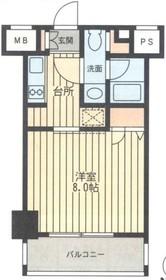 レジディア新横浜8階Fの間取り画像