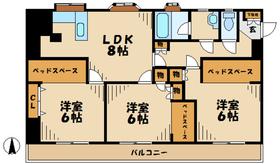 伊勢原駅 徒歩8分3階Fの間取り画像