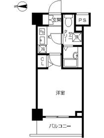 スカイコート川崎西口5階Fの間取り画像