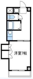 コーポ落合2階Fの間取り画像