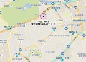 赤坂見附駅 徒歩5分案内図