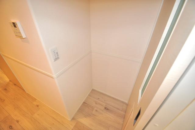 エイチ・ツーオー布施 冷蔵庫置き場も確保。キッチンのすぐ横だから使いやすい。