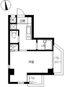 スカイコート早稲田第37階Fの間取り画像