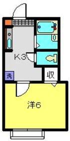 沼部駅 徒歩17分1階Fの間取り画像