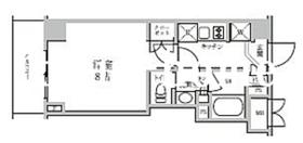 レジディア神楽坂II2階Fの間取り画像