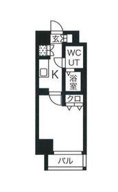 スパシエ横浜大通り公園10階Fの間取り画像