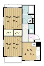 ヴェルドミール1階Fの間取り画像