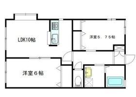 グレース富岡2階Fの間取り画像