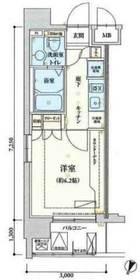 リヴシティ横濱弘明寺7階Fの間取り画像