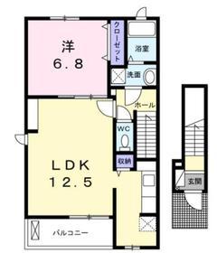 マルスソレイユ2階Fの間取り画像