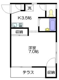 テルメゾン1階Fの間取り画像